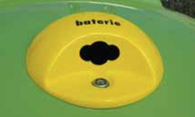 schránka na baterie, objem zásobníku 12l