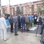 Slavnostní předání podzemních kontejnerů CITY Q v Sarajevu