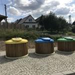 Polopodzemní kontejnery SEMI v Bludově